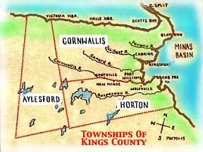 Kings County California Map.Nova Scotia Maps